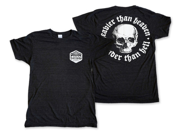 Hallow Collective - Heavier Than Heaven, Louder Than Hell Tee - Black Front and Back