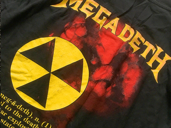 Megadeth - Definition Tee 1987 Back Close Up