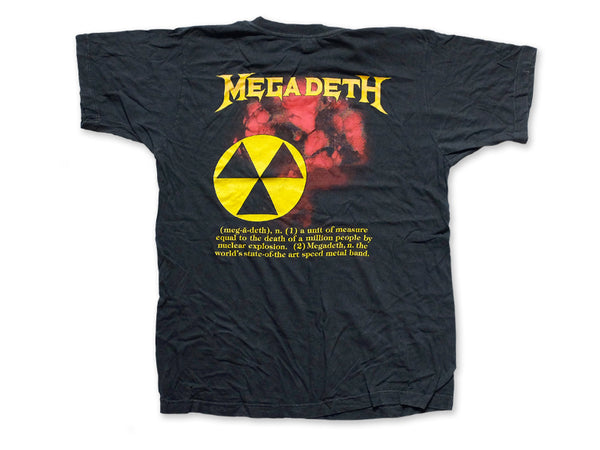 Megadeth - Definition Tee 1987 Back