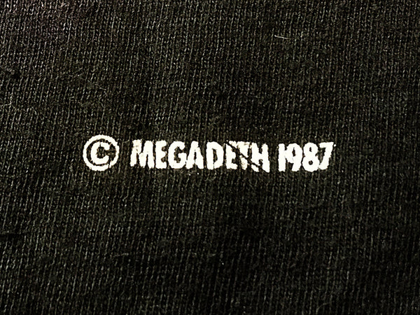 Megadeth - Definition Tee 1987 Date Close Up
