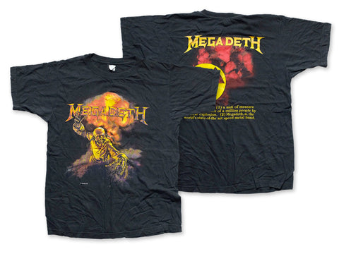 Megadeth - Definition Tee 1987 Front and Back