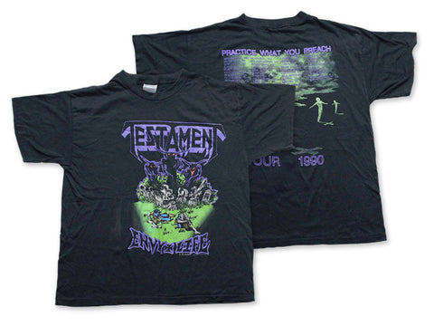 Testament - Envy Life Tee 1990 Front and Back