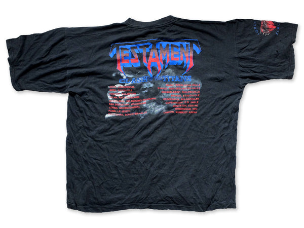 Testament - Clash Of The Titans European Tour Tee 1990 Back