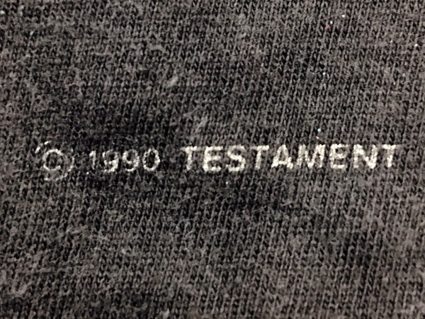 Testament - Clash Of The Titans European Tour Tee 1990 Detail Close Up