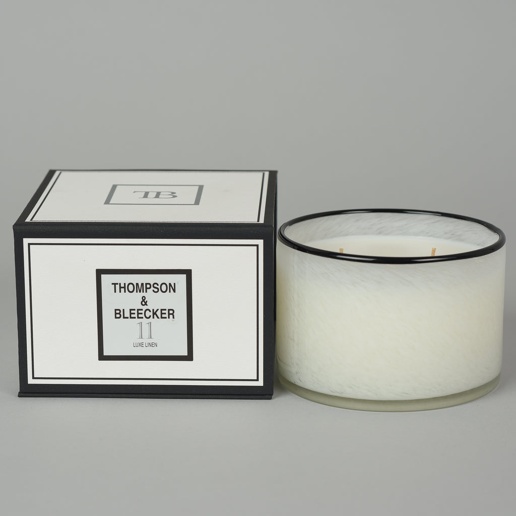 #11 LUXE LINEN THREE WICK CANDLE