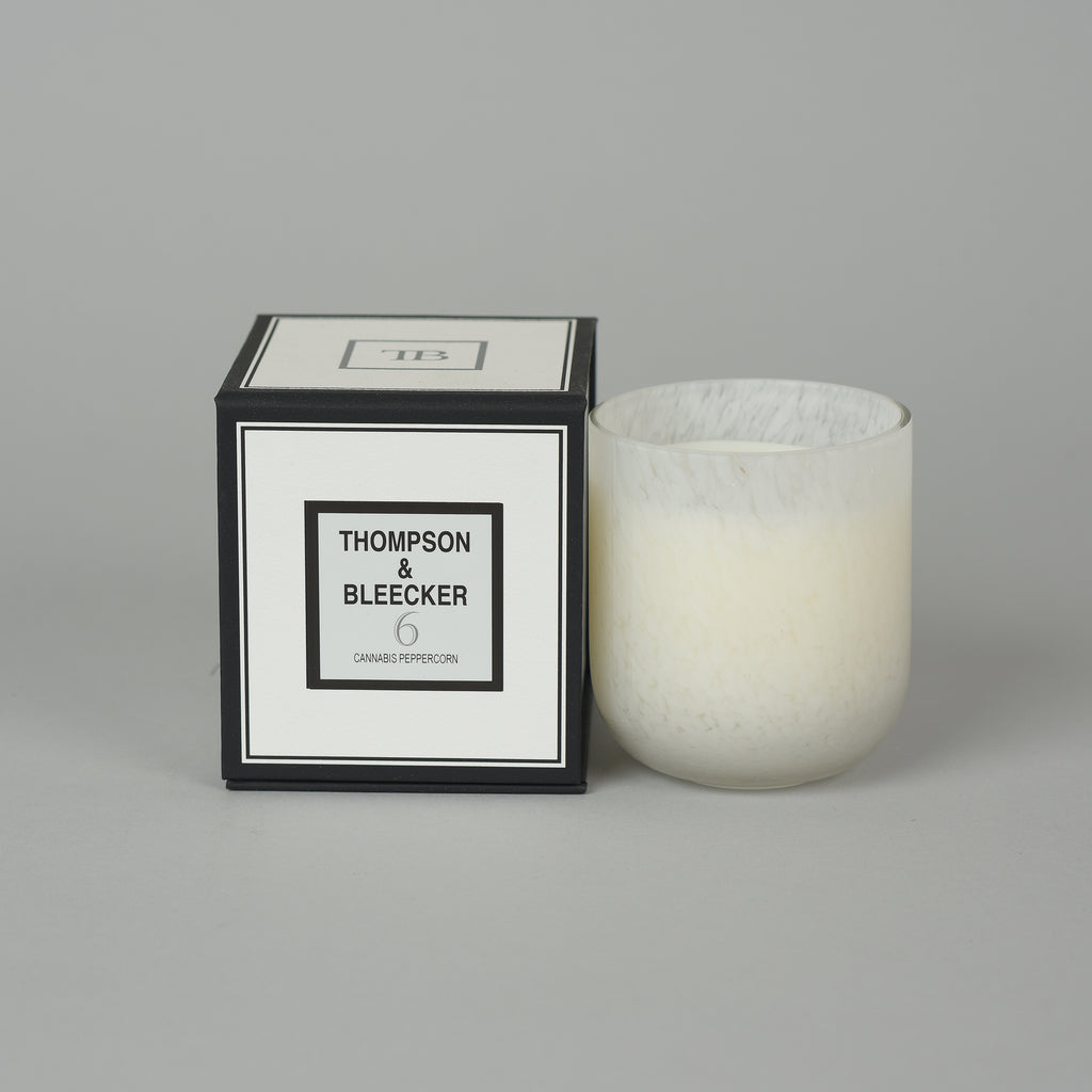 #6 CANNABIS PEPPERCORN GRAND SINGLE WICK CANDLE