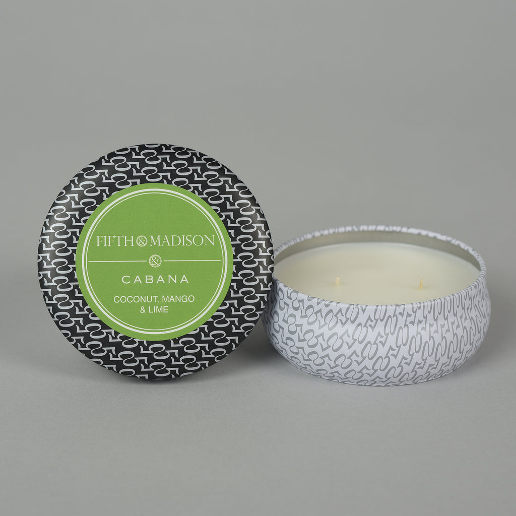 CABANA TWO WICK TIN