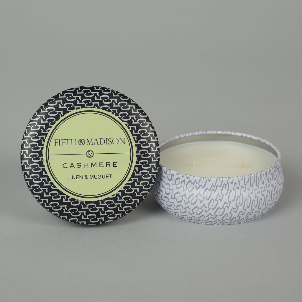 CASHMERE TWO WICK TIN