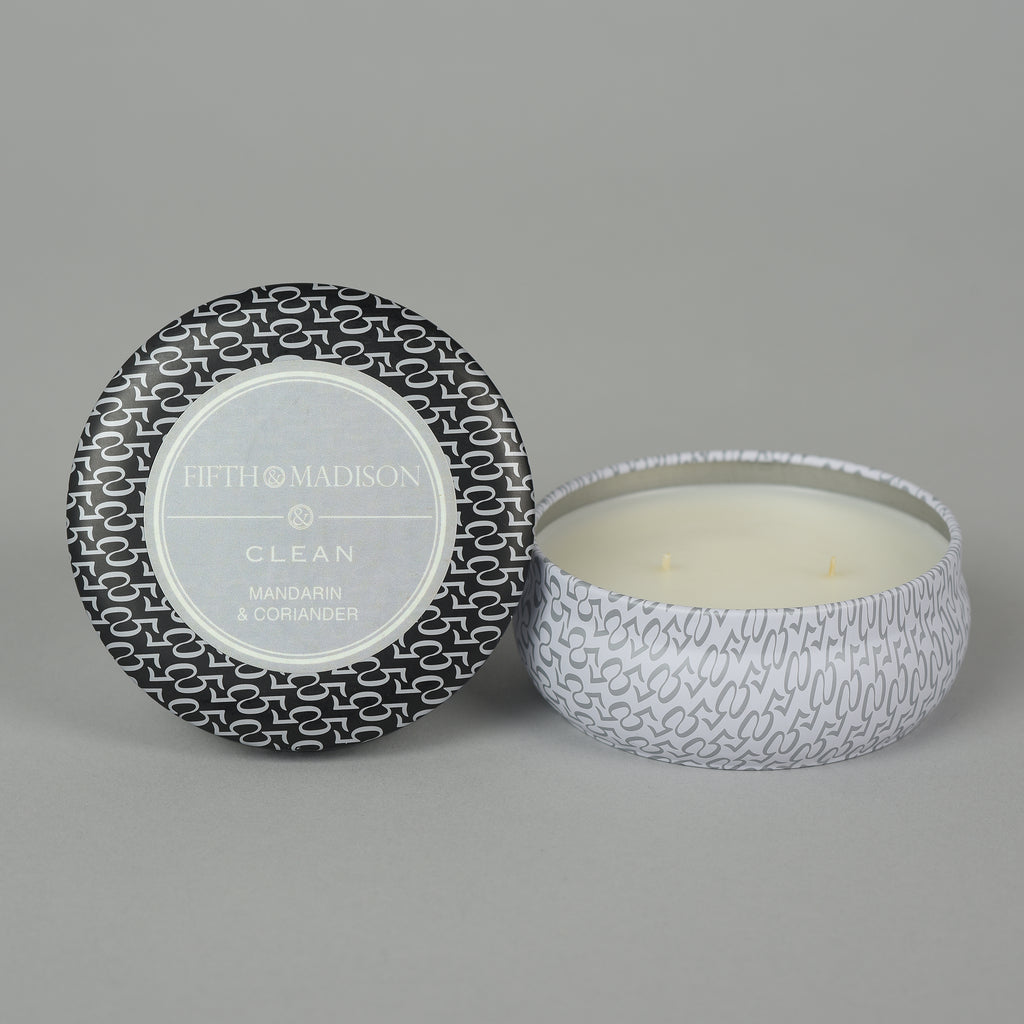 CLEAN CHELSEA TWO WICK TIN CANDLE