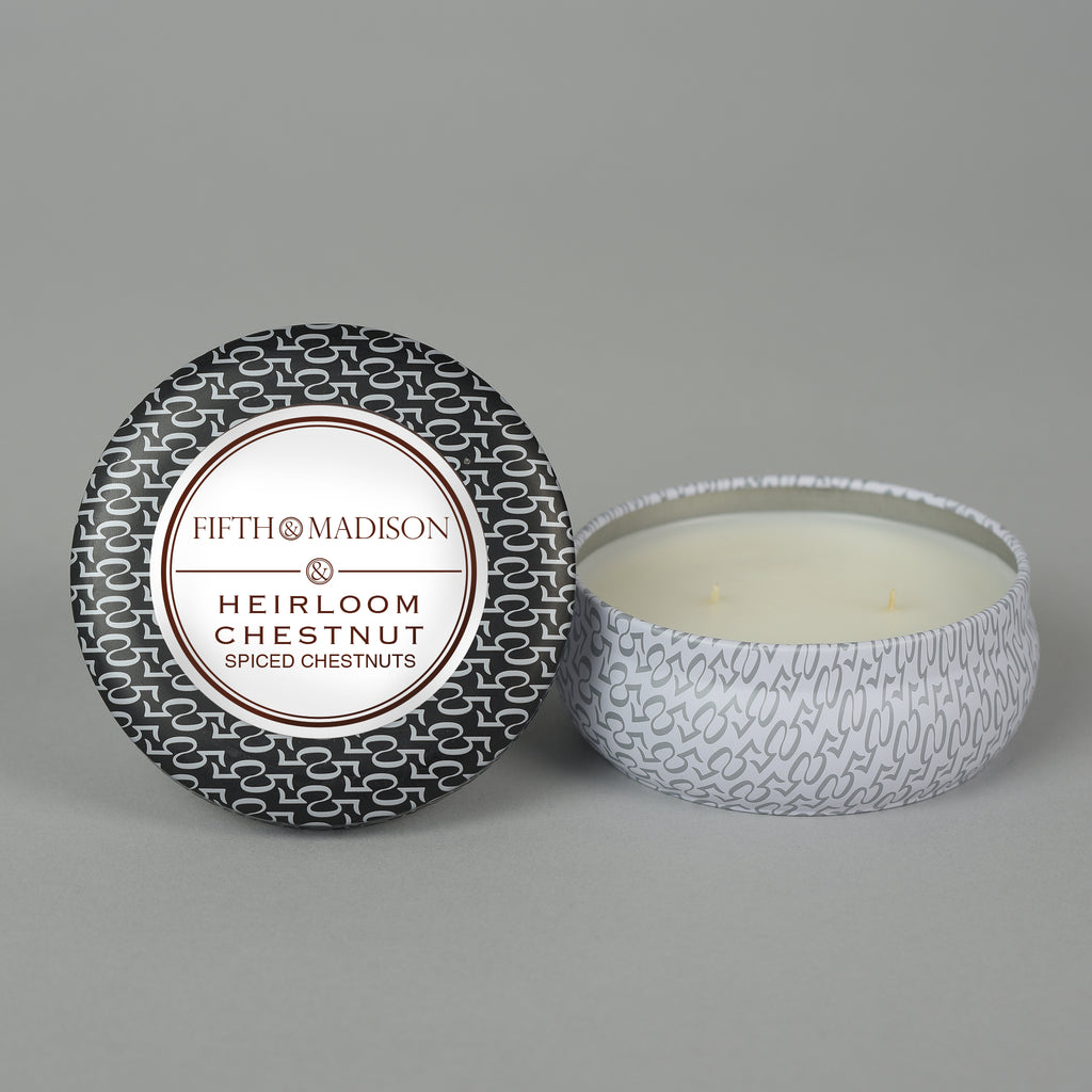 HEIRLOOM CHESTNUT TWO WICK TIN
