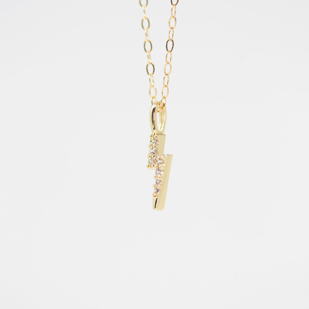 Tiny Lightening Bolt Necklace