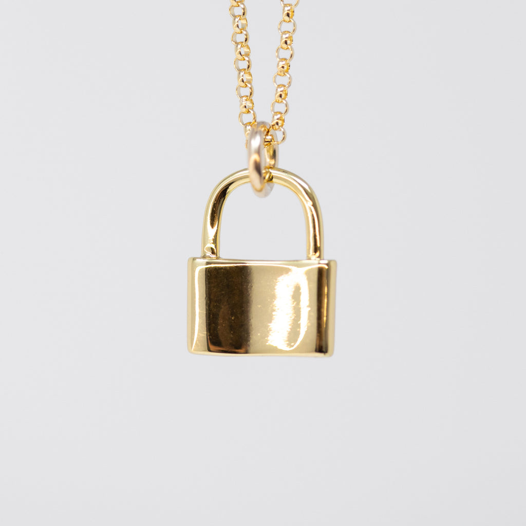 Shiny Lock Necklace