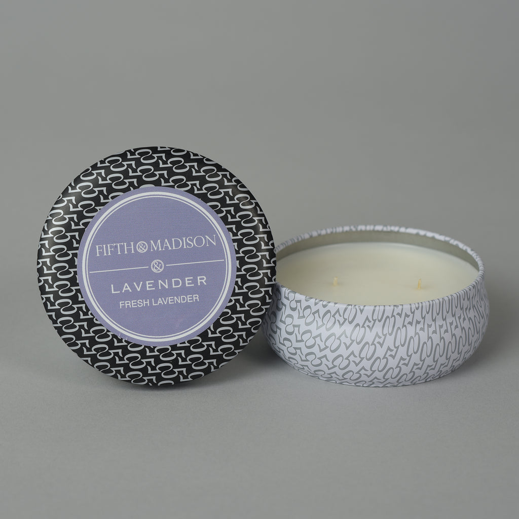 LAVENDER TWO WICK TIN