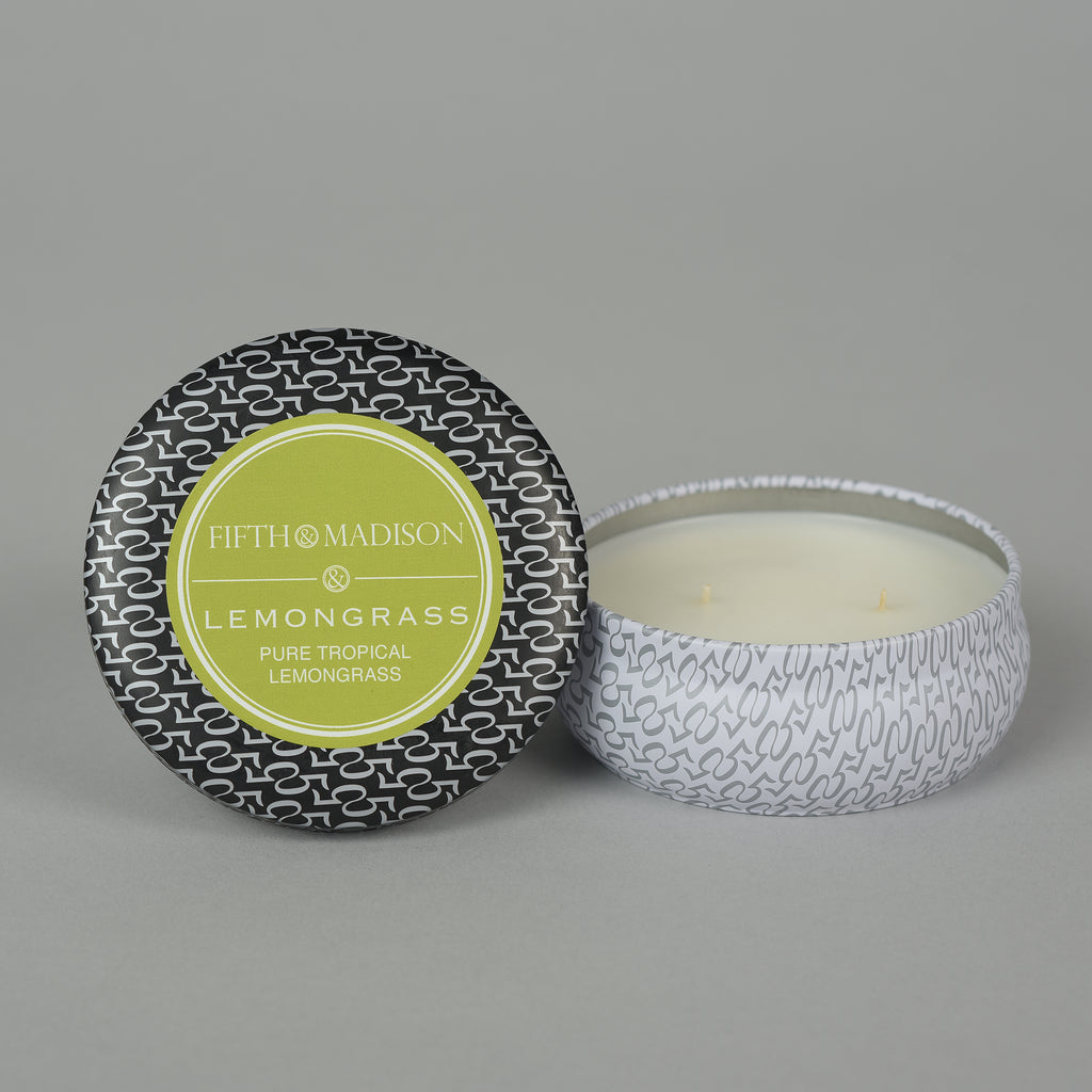 LEMONGRASS TWO WICK TIN