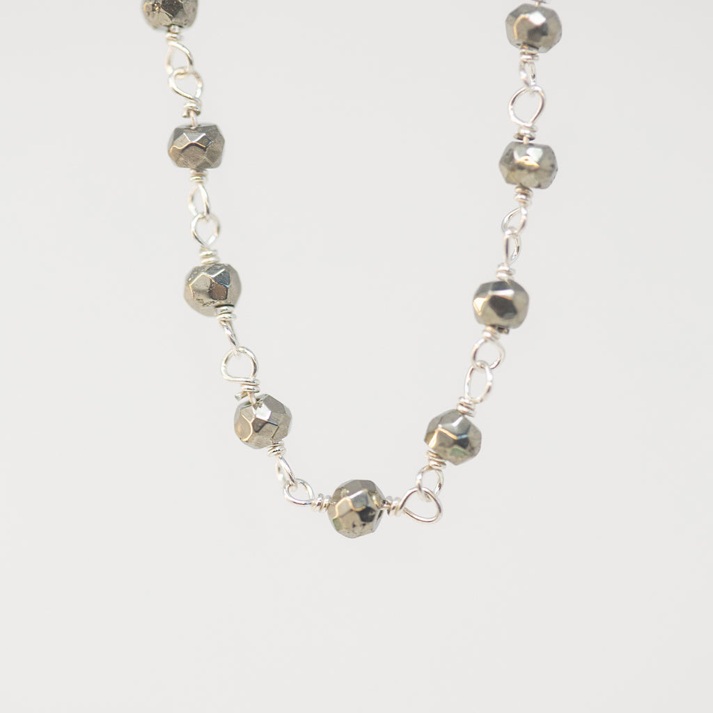 Sterling & Hematite Chain Necklace