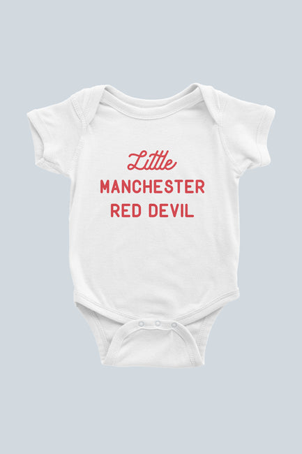 Little Manchester Red Devil Infant Bodysuit