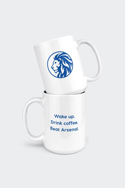 Chelsea 15oz Coffee Mug - Wake Up Beat Arsenal