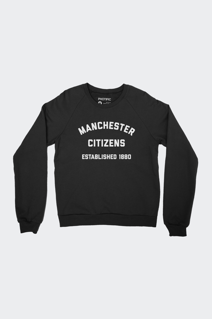 Manchester City FC Inspired Raglan Sweatshirt
