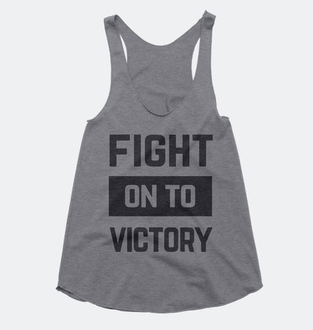 Fight on to Victory - USC Trojans - Tri-blend Racerback Tank