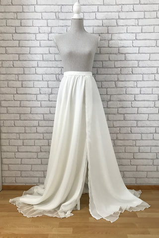 chiffon wedding skirt gown crop top and skirt