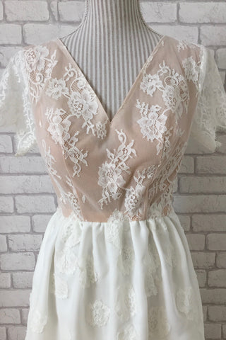 custom made lace wedding dress gown