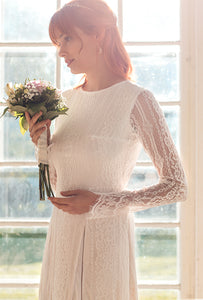 long sleeve lace wedding dress shop online with free international shipping