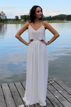 Load image into Gallery viewer, simple, lace and chiffon, two piece, wedding dress, bohemian two piece wedding dress