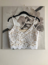 Load image into Gallery viewer, lace bridal crop top, bridal separates lace wedding top