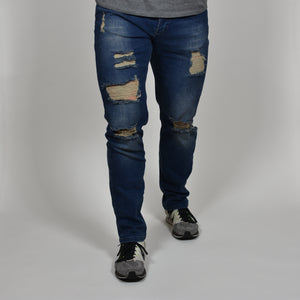 Vitruvian Dark Blue Distressed