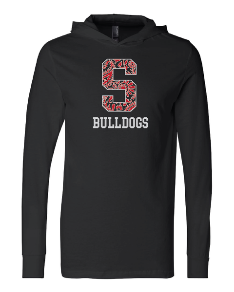 Skiatook Bulldog Paisley S Long Sleeve Hooded Tee