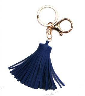Tassel Keychain With Snaphook - Royal Blue