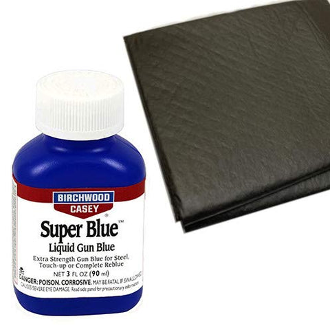 Westlake Market, Birchwood Casey Super Blue Liquid Gun Blue Plus 2 Disposable Absorent Pads for Gun Restoration Projects