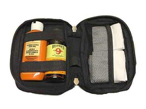 Gun Bore Cleaner and Lubricating Oil, Patches and Neoprene Case