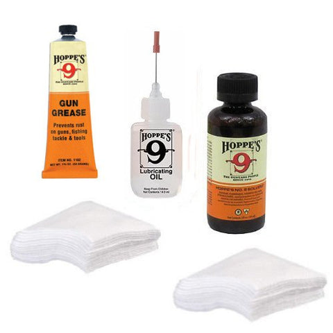 Gun Bore Cleaner, Precision Lubricating Oil, Grease, Patches All Made in the USA