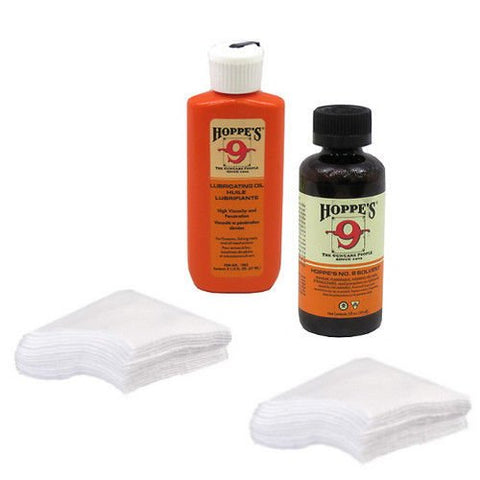 Hoppes No 9 Cleaner and Lubricating Oil Cotton Shotgun Cleaning Patches for 12-16 Gauge