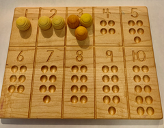 Grapat Loose Parts with a 10 Frame Counting Board