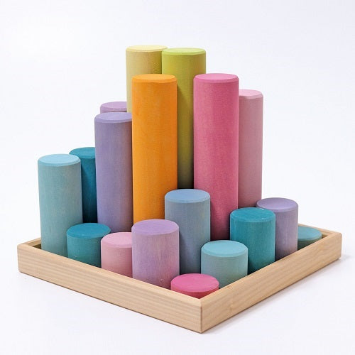 Building Rollers, Pastel Large 25 pcs