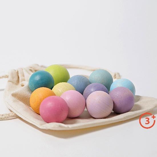 Small Pastel Balls - 12 pieces