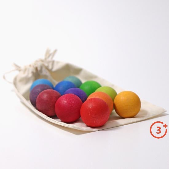 Small Rainbow Balls - 12 pieces