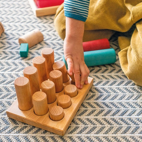 Sorting Board With Rollers, Natural 12 pcs