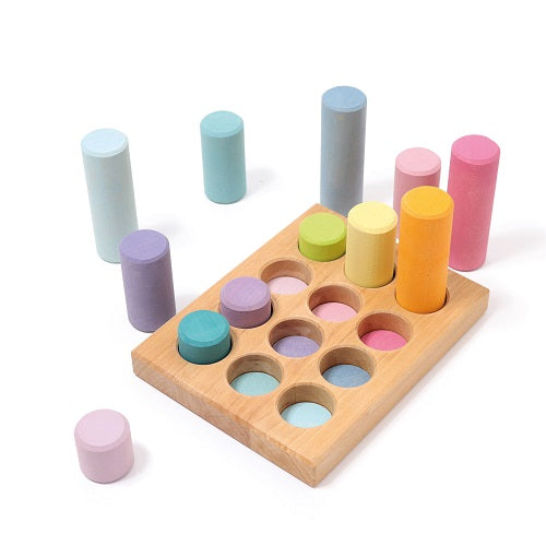 Sorting Board With Rollers, Pastel 12 pcs