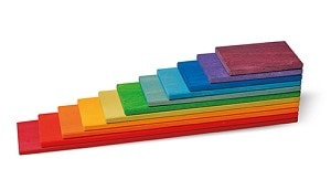 Building Boards in Rainbow by Grimm's Organic Cotton Toddler Kids Clothes from Modern Rascals