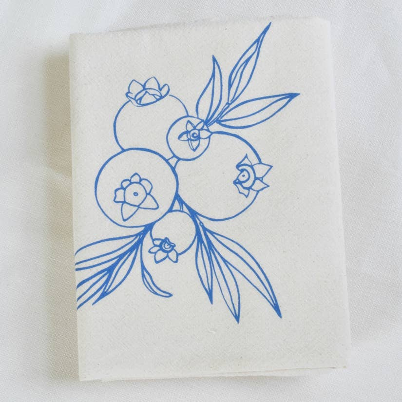 Wild Blueberry Tea Towel - Blue-Violet