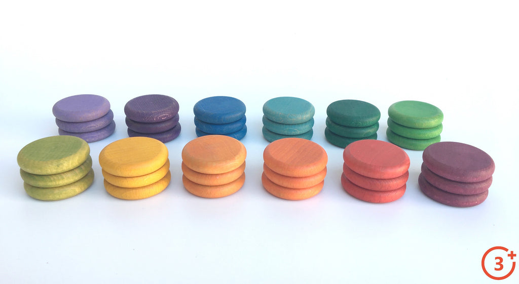 Coloured Coins - 36 pieces in 12 Colours