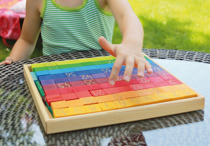 Block Set Counting with Colours - 200 pieces by Grimm's Organic Cotton Toddler Kids Clothes from Modern Rascals