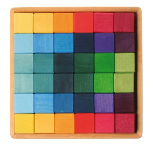 Building Set Squares 4x4 Blocks by Grimm's Organic Cotton Toddler Kids Clothes from Modern Rascals