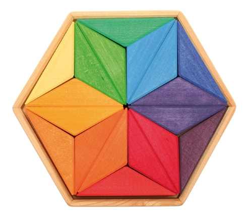 Mandala Complementary Colour Star Puzzle