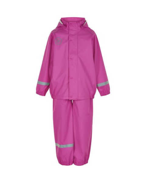 Rainwear Set with Bibbed Overall - Rose Violet
