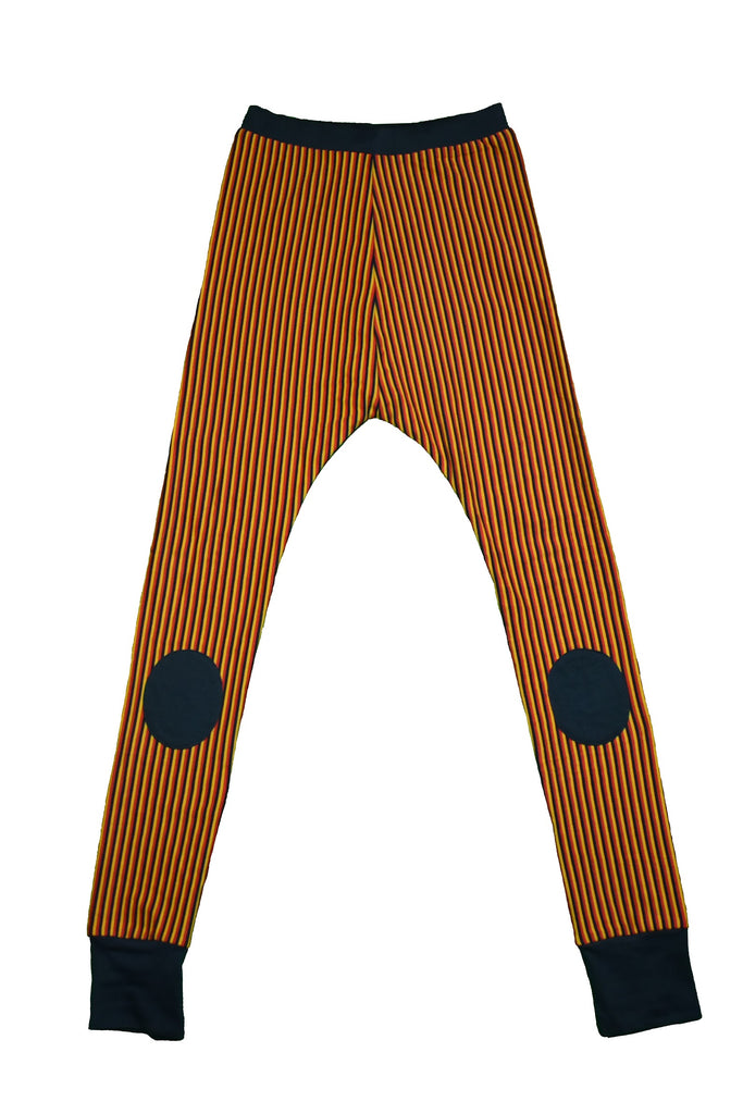 Black Red Yellow Striped Baggy Pants