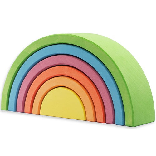 6 pc tunnel largest piece bright green, blue, purple, orange, salmon, yellow